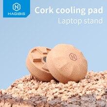 Hagibis Kurk Laptop Stand Magnetische Mini Draagbare Cooling Pad Natuurlijke Warmteafvoer Holder Skidproof Mat Voor Macbook Laptop