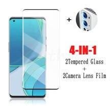 Cola completa de vidro para oneplus 9 pro vidro temperado para oneplus 9 8 pro protetor de tela do telefone película protetora para oneplus 9 pro