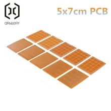 10 шт. 5*7 см pcb прототип бумага Медь PCB 5*7 Универсальный Эксперимент Матрица платы 5x7 см бренд