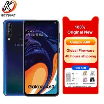 Перейти на Алиэкспресс и купить Мобильный телефон Samsung Galaxy A60 LTE, 6,3-дюймовый экран, 6 ГБ ОЗУ 128 Гб ПЗУ, Восьмиядерный процессор Snapdragon 675, камера 32 Мп + 8 Мп + 5 Мп