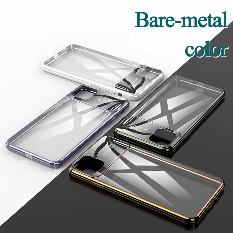 Coque Ultra-thin Glass Phone Case For iPhone11 Transparent PC Hard Protictive Back Cover For iPhone 11 Pro Max Couple Case Funda
