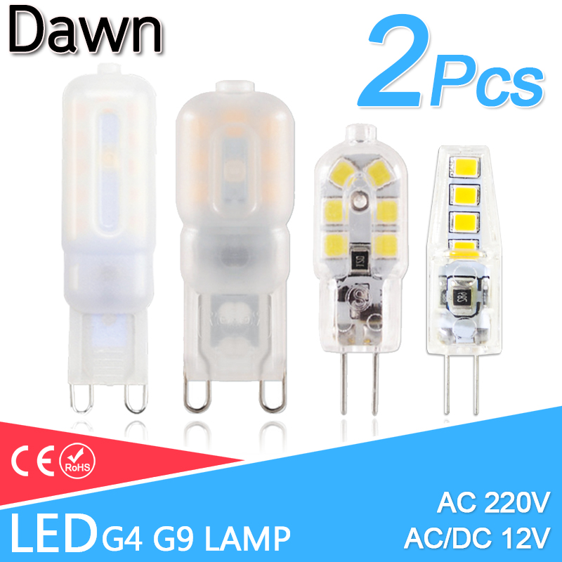 Led G4 G9 Led Lamp 3W 5W Mini LED Bulb AC 220V DC 12V Spotlight SMD2835 Chandelier High Quality Lighting Replace Halogen Lamps