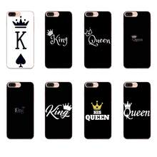 For Huawei P7 P8 P9 P10 P20 P30 Lite Mini Plus Pro Y9 Prime P Smart Z 2018 2019 Cute Phone Case King Queen Couple Lovers Fashion(China)