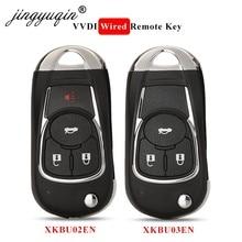 Jingyuqin XKBU02EN /XKBU03EN Wire Flip uniwersalny przewodowy klucz zdalny do Buick Style 3/4 przyciski do narzędzie VVDI angielska wersja