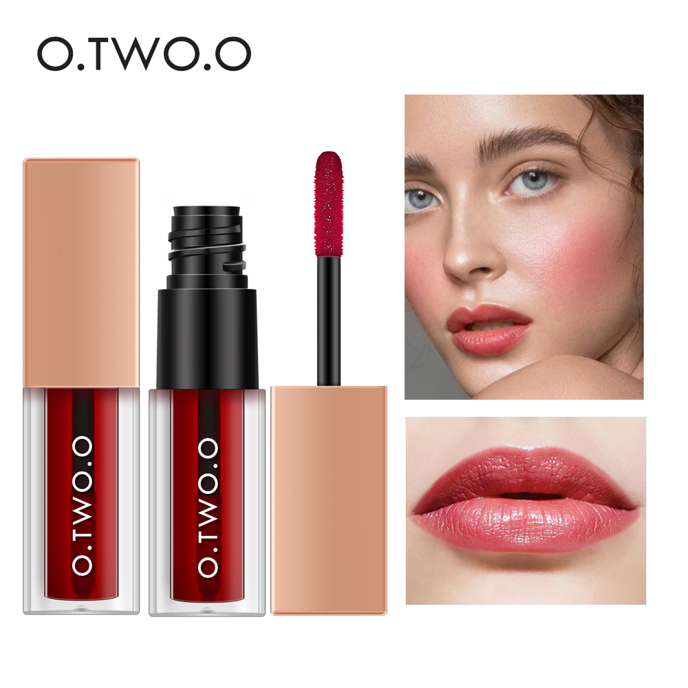 O.TWO.O 4ml Liquid Blush Silky Long Lasting Waterproof Contour Makeup Natural Cheek Blusher Cosmetic