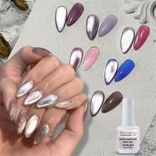 Neue Tränken Weg Von 9D Breite Katze augen Magnetische Gel Polnisch Helle Silber UV Gel Nagellack Emaille Lack Glitter Shiny nail art Lack