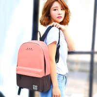 Baida Canvas Girl School Backpack Womens Teen Schoolbag Backpacks Female Portfolio Teenagers School Bags For Teenage Boys Girls