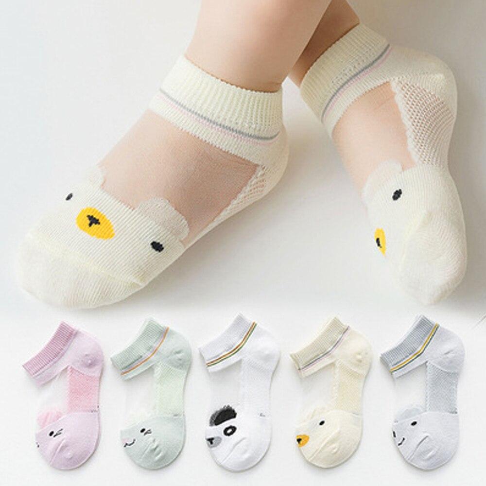 meias infantis fofas de malha de algodão