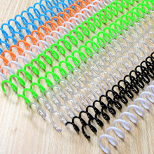20PCS 30-hole Notebook Binding Spiral Ring Book Plastic Single Wire Ring Single Coil Binding Supplies Spiral Binding Coil