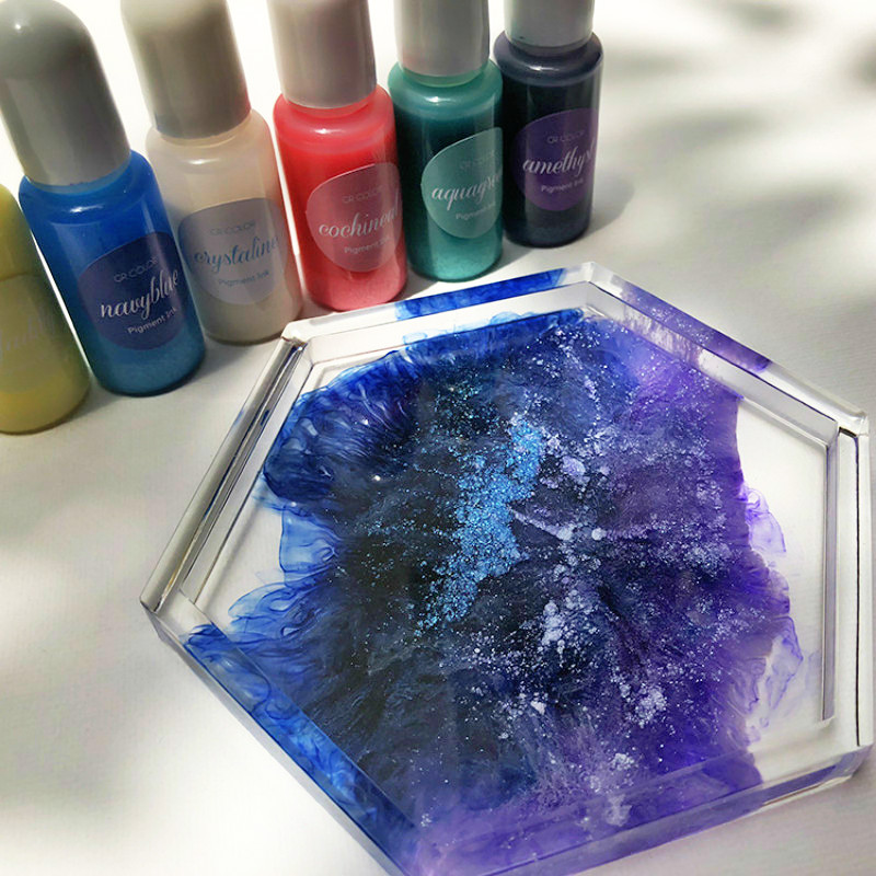 New Color Starry Galaxy Fluid Artist Epoxy Resin Glitter Colorant Pigment Dye Resin Pigment DIY Art Set Resin Ink Paint Dye 10ML