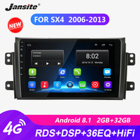 Jansite DSP 4G 9 Car Radio For Suzuki SX4 2006 2013 RDS Android player autoradio 36EQ Touch screen Bluetooth players with Frame