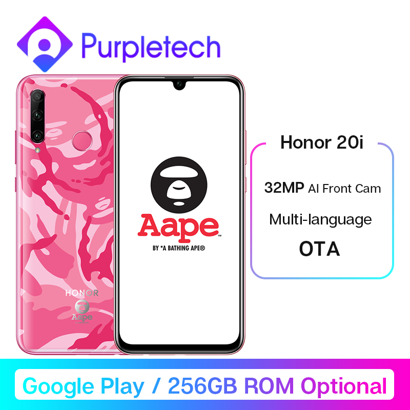 Honor 20i Honor 20 Lite Smartphone 6.21'' 32MP AI Front Camera Face Fingerprint Unlock Mobile Phone Android 9.0 Google Play