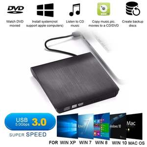 USB 3,0 тонкий внешний DVD RW CD записывающее устройство, устройство для чтения, проигрыватель, оптические диски для ПК, ноутбука