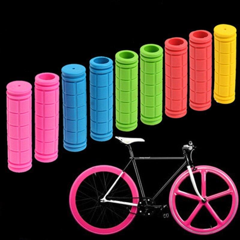 Poignées de guidon de vélo poignées en caoutchouc TPR confortables VTT de guidon de route