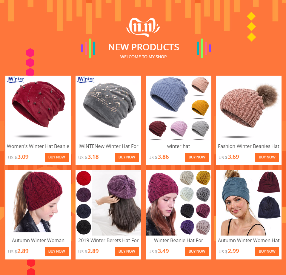 New Pearl Winter Skullies Beanies Hat Women Solid Color Knitted Cotton Female Winter Beanies Caps Soft Warm Hats Ladies Bonnet 18