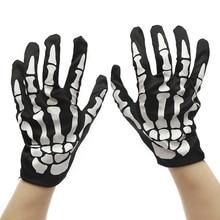 Gloves Halloween Horror Skull Claw Bone Skeleton Goth Racing Full high quality fashion gloves women 2019