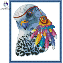 Joy Sunday,Rainbow eagle,cross stitch embroidery,Cartoon cross pattern,cross needlework,Animal pattern crossstitch