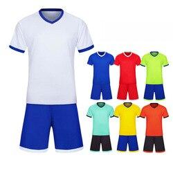 Blank soccer Jerseys Football Jersey & shorts Adult children's training suit team uniform Short sleeve tracksuit Customized