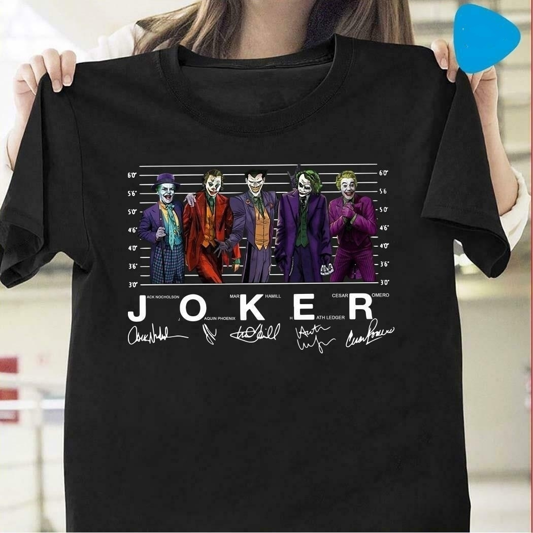 Sunfiz YF 2019 NEW Fashion Unisex Joker Joaquin Phoenix 2019 T Shirt Jack Mark Heath Jokers Shirt Women And Men T Shirt