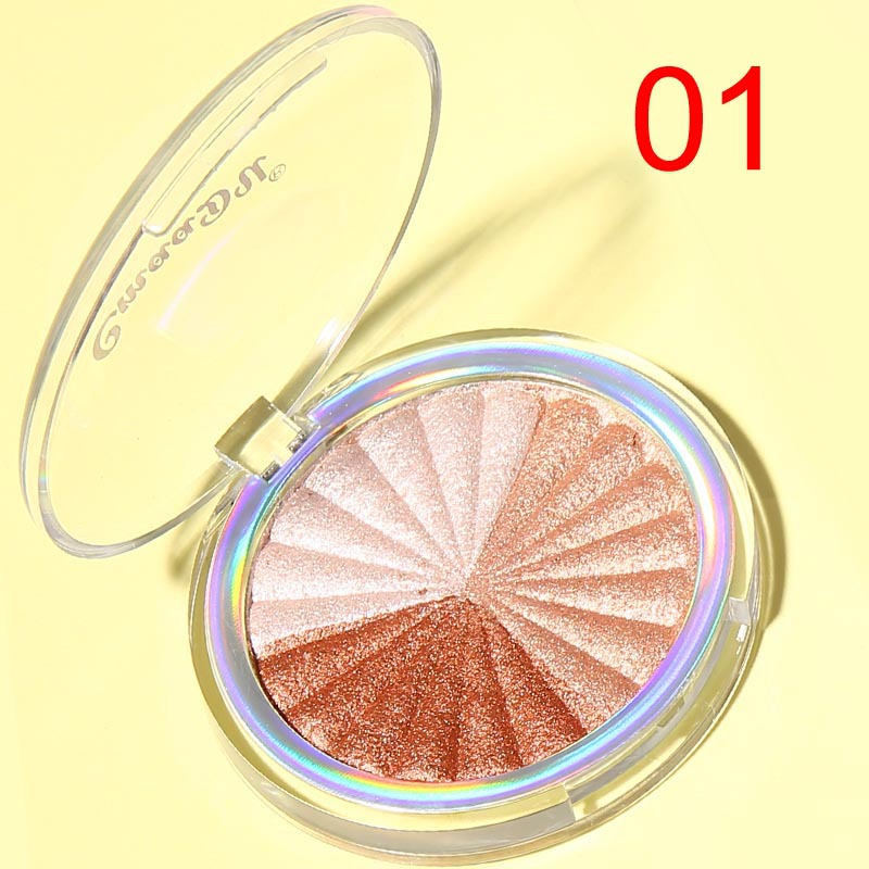 Highlighter Facial Palette Makeup Glow Kit Face Contour Shimmer Powder Base Illuminator Highlight Cosmetics Long Lasting TSLM1 2