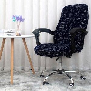 Image 5 - สำนักงานหมุนเก้าอี้คอมพิวเตอร์ยืดหยุ่นเก้าอี้Anti สกปรกถอดออกได้เก้าอี้ยกสำหรับห้องประชุมที่นั่งฝาครอบ