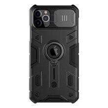 For IPhone 11 케이스 용 NILLKIN 렌즈 보호 CamShield Armor 케이스, For iPhone 11 Pro 용 링 킥 스탠드 및 슬라이드 커버 포함