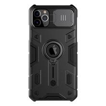 For IPhone 11 Pro durumda NILLKIN Lens koruma CamShield zırh vaka For iPhone 11 Pro Max ile halka Kickstand ve slayt kapağı