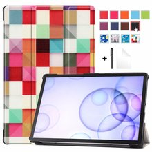 "Case for Samsung Galaxy Tab S6 2019 10.5"" Tablet Slim Lightweight Smart Shell for SM-T860 SM-T865 Samsung Tab S6 Case +Film+Pen(China)"