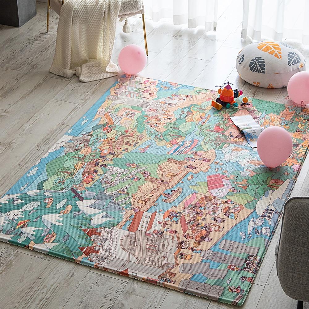 Infantrain Baby Play Mat Living Room Large Children Carpet Anti-skid Game Kids Rug To The Nursery Soft Household Baby Floor Mats