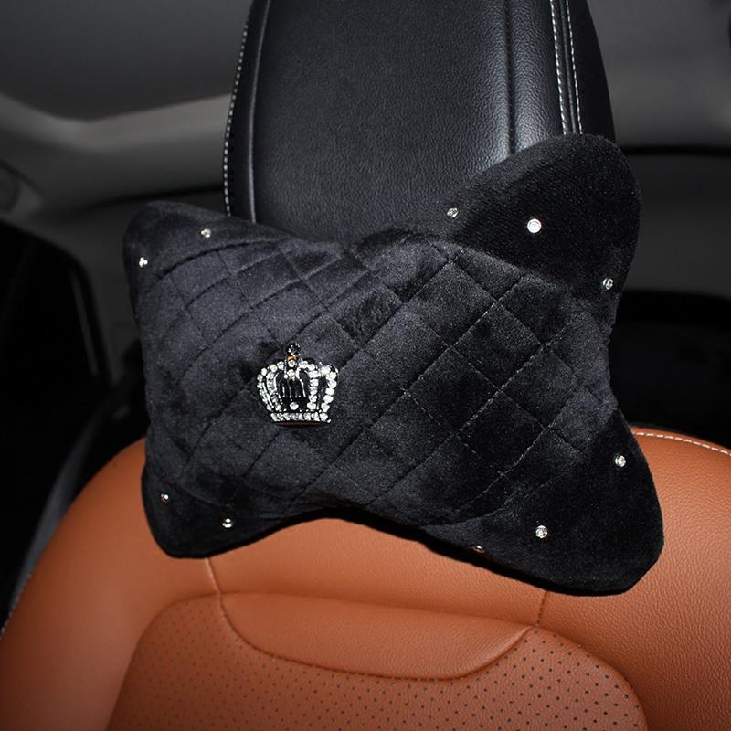 Winter-Crown-Crystal-Car-Seat-Headrest-Pillow-Plush-Auto-Neck-Waist-Support-Pillows-Gear-Handbrake-Cover-2