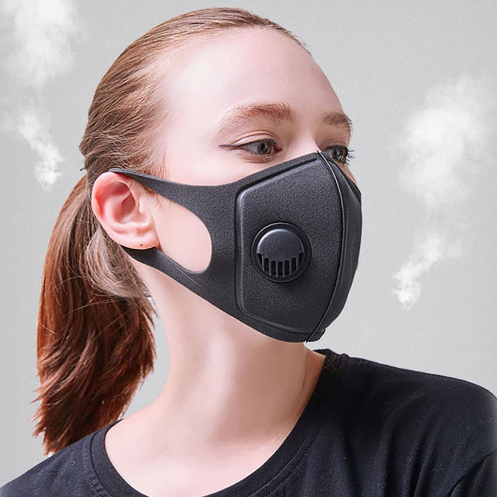 Unisex Sponge Dustproof PM2.5 Pollution HalfFace Mouth Mask With Breath Wide Straps Washable Reusable Muffle Respirator Instock