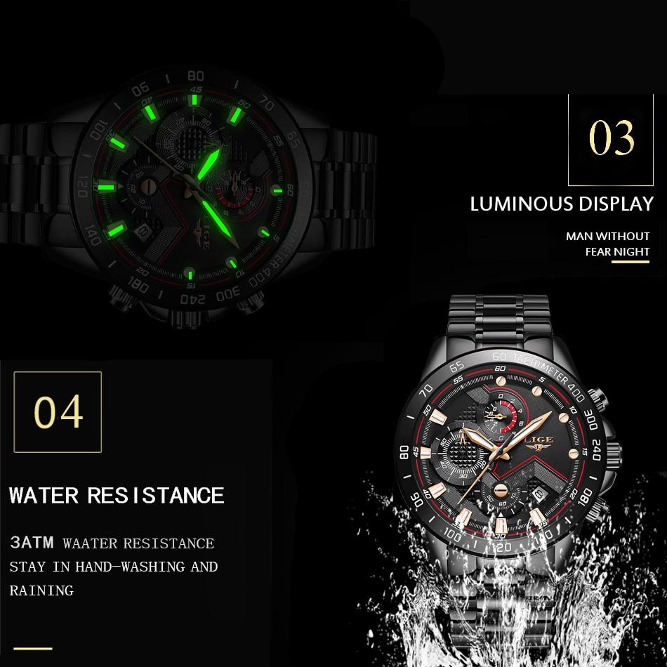Hf9861be27bcc4ad999ac5357126c2ff9I 2020 LIGE Fashion Mens Watches Stainless Steel Top Brand Luxury Sport Chronograph Quartz Watch Men Black Watch Relogio Masculino