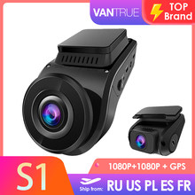 Vantrue carro traço cam s1 1080p hd gps veículo drive gravador de vídeo automático dvr dashcam carro registrador câmera 24h estacionamento visão noturna