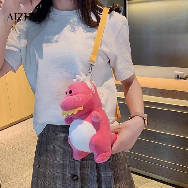 Wanita Kepribadian Dinosaurus Mini Mewah Bahu Tas Selempang Lucu Dinosaurus Gadis Uang Telepon Tas Mini Tas Kurir Wanita Dompet