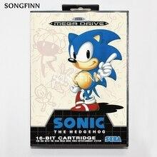 16 Bit Md Scheda di Memoria con La Scatola per Il Sega Mega Drive per Genesis Megadrive di Sonic The Hedgehog Pal