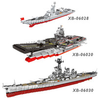XINGBAO NEW Military Army Ship Series Classic USS Missouri Battleship Missile Destroyer Building Blocks Vessel Bricks Juguetes