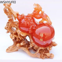 Lucky Gift Chinese Style Figurine Statue Ornaments Feng shui resin Craft for Luck and Success Decoration Desktop decoration