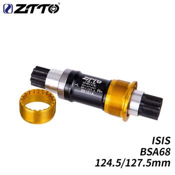 ZTTO BSA ISIS gwint dolny wspornik 68X124 5 127 5mm BSA68 części rowerowe do roweru BMX Trial stalowa oś wrzeciona mechanizm korbowy tanie i dobre opinie Rowery górskie Aluminium stop BB101A