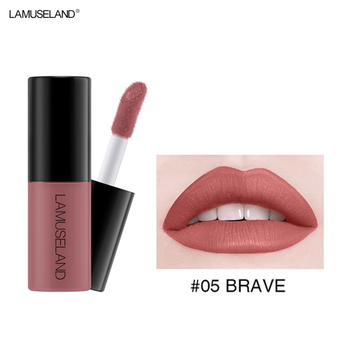 12 Colors Matte Lip Gloss Waterproof Lasting Liquid Lipstick Easy To Carry Red Non-stick Cup Lip Tint Makeup TSLM2