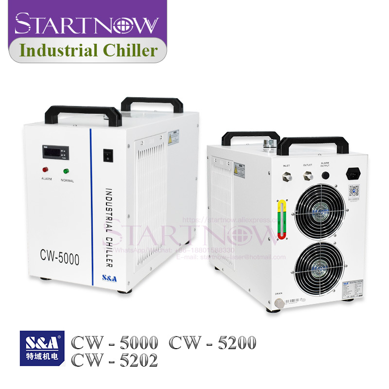 CO2 Industrial Water Chiller S&A CW5200 CW5000 For 80W 150W 100W Laser Machine Laser Tube Cooling CNC Spindle CW-5200 CW-5000