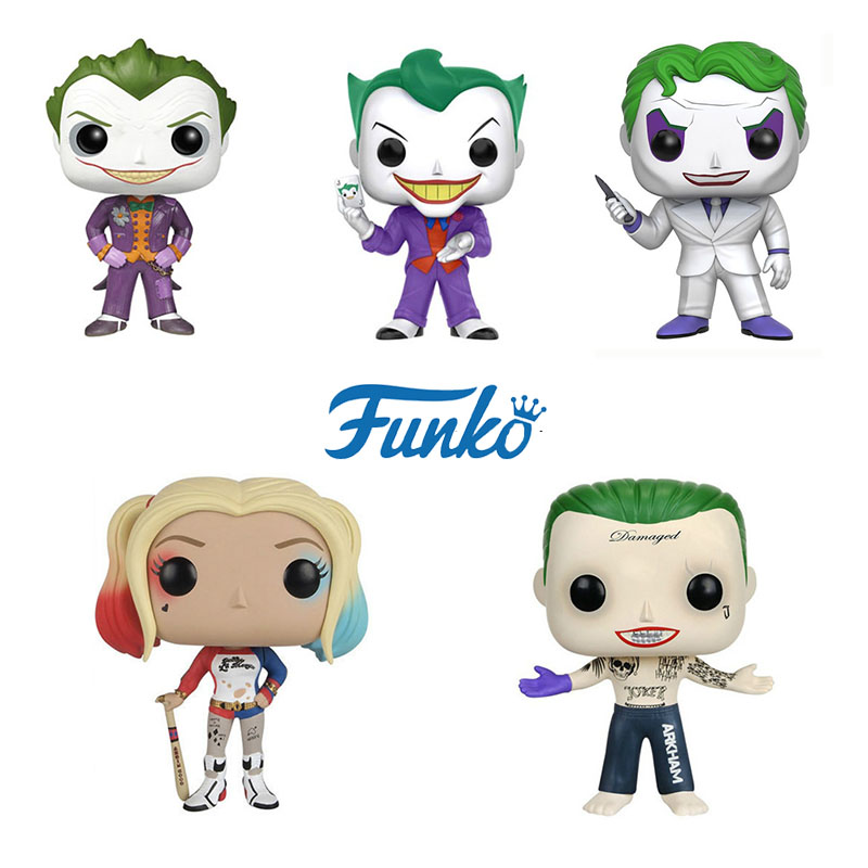 FUNKO POP DC Super Heros Suicide Squad Harley Quinn Joker Who Laughs Limited Edition Vinyl Action Figures Collectible Model Toys