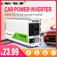 Onever 500W Inverter 12 V 220 V Spannung Transformator DC Zu AC 12 V Zu 220 V Power Converter mit Dual USB Auto Ladegerät Adapter