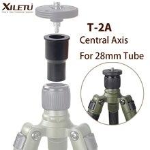 XILETU T 2A מאקרו ירי ציר מרכזי עבור 28mm צינור מרכזי חצובה