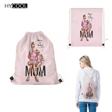 HYCOOL Super Mom Printing Gym Bag For Women Fitness Sports Bag Girls Yoga Bag Storage Pouch Bundle Pocket Bolso Deportivo Mujer