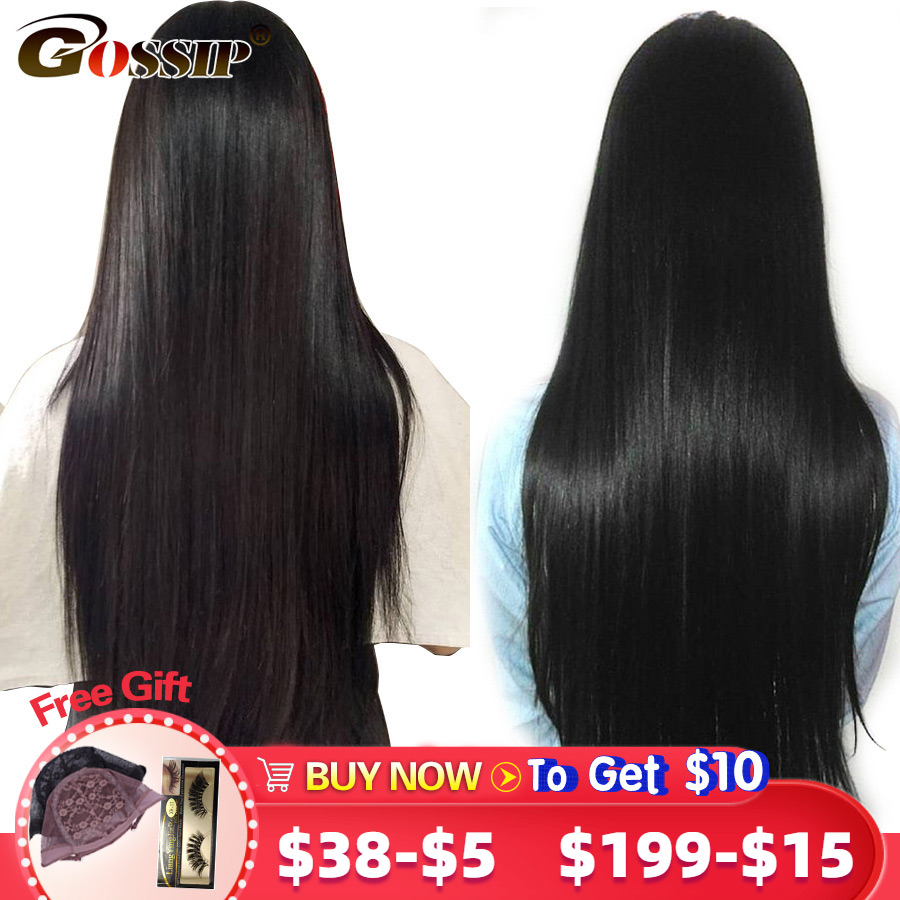 150/180 Density Pre Plucked 360 Lace Wig Lace Frontal Wig Straight Human Hair Wig Remy Malaysian 6 Inch Lace Front Wig