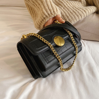 Stone Pattern PU Leather Crossbody Bag
