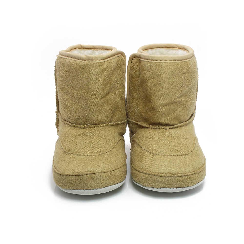 Kış sıcak 0-18 Ay bebek çizmeleri Benzersiz Sevimli Sarı Tilki Yenidoğan Toddler Bebek Kız Ayakkabı Kanca ve Döngü Kürklü çizmeler Toptan