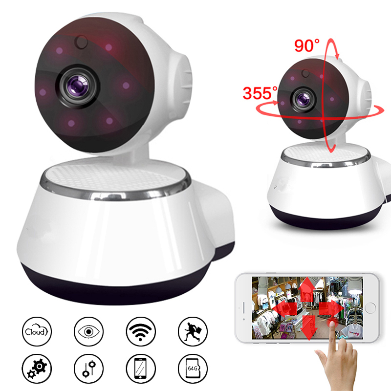 HD WIFI IP Camera 720P Night Vision Home Security Camera Wireless P2P Indoor IR Cam PTZ IP Camara Audio
