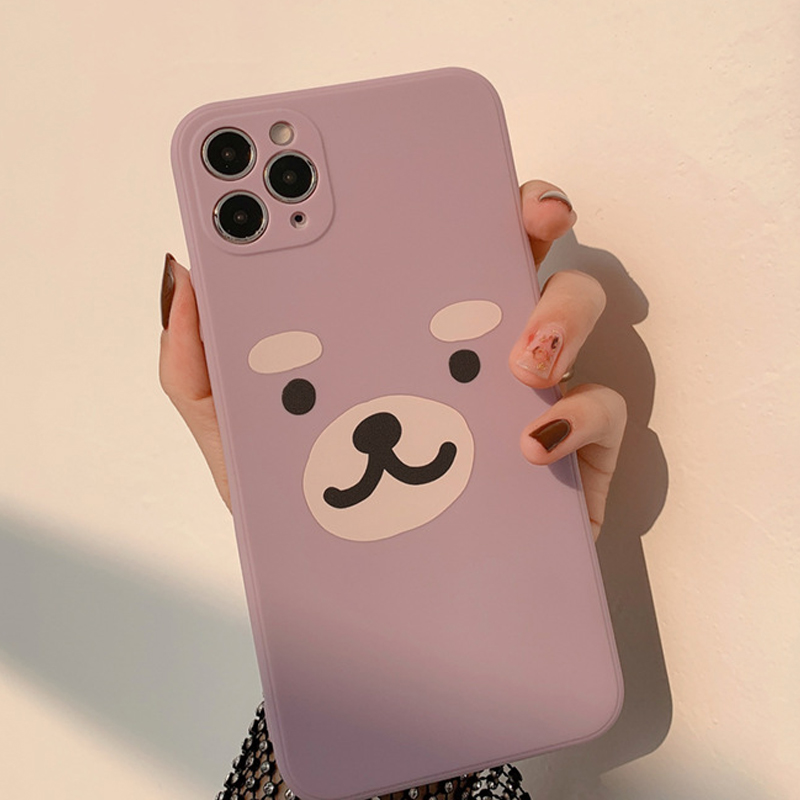 Cute Cartoon Bear Phone Case For Iphone X 11 7 8 Plus Xs Pro Max 12 Mini Xr Shockproof Protective Cover Capa