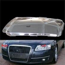 Для Audi A6 A6L C6 2006-2011 передние фары прозрачные абажуры лампы оболочки маски фары крышка объектива фары стекло